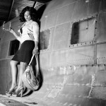Clare Abella for GUESS Jeans Malta, Aviation Museum.
