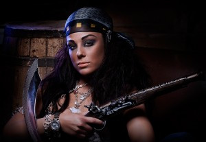 Ira Losco for GUESS Jeans Malta. Pirate themed shoot.
