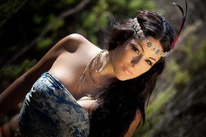 Ira Losco for GUESS Jeans Malta. Indian themed shoot.