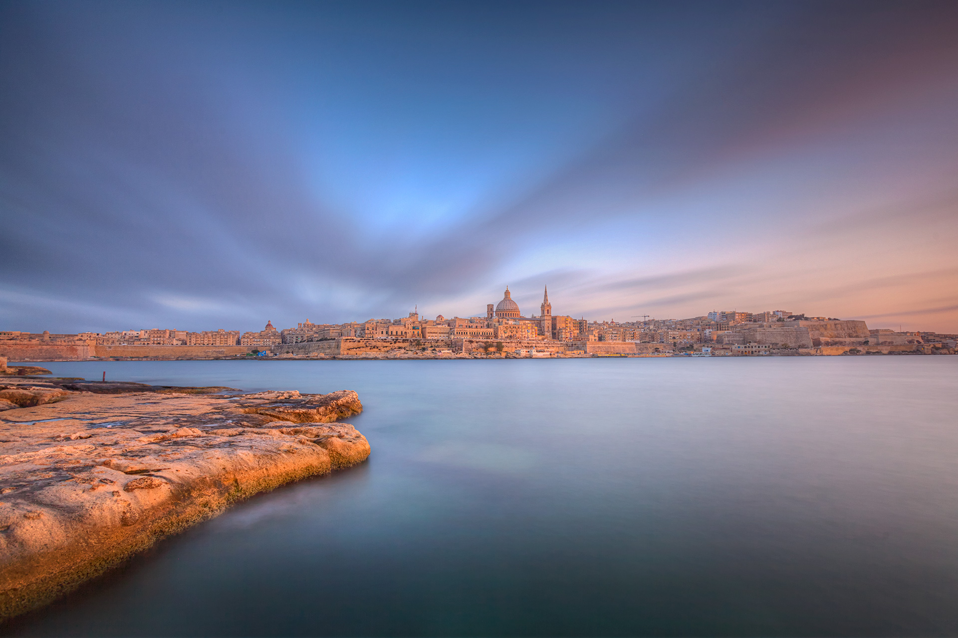 Allen Venables Print Valletta Malta
